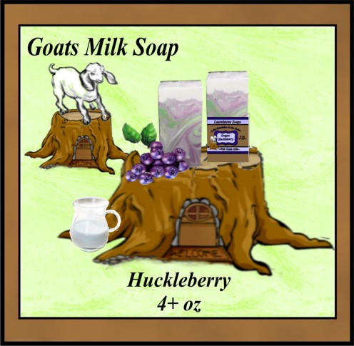 Huckleberry Oregon goats milk soap
