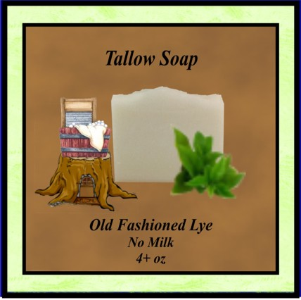 Old Fashioned Tallow Soap no milk