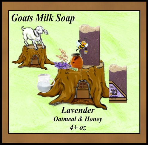 Lavender Oatmeal and Honey goats milk soap