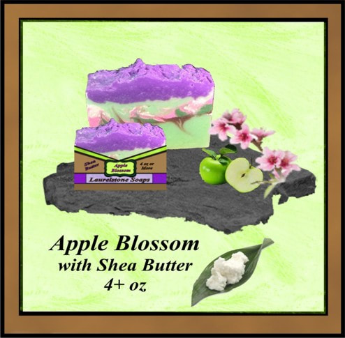 Apple Blossom with Shea Butter vegetable oil soap