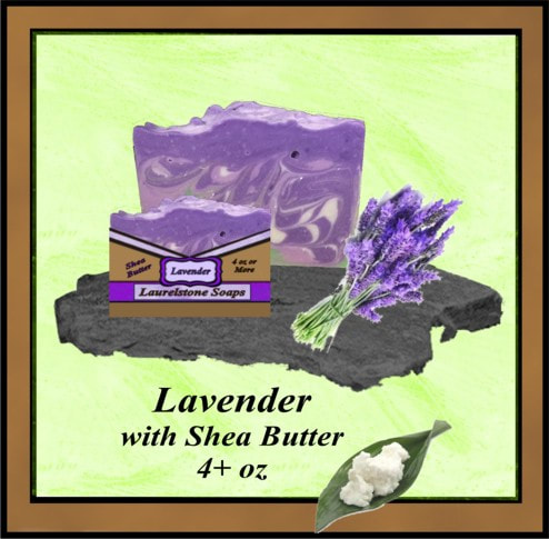 Lavender vegetable oil soap with shea butter.