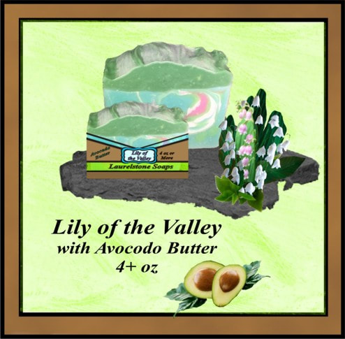 Lily of the Valley soap with avocado butter
