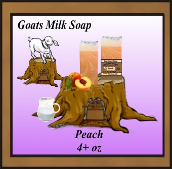 Peach skin softening goats milk soap