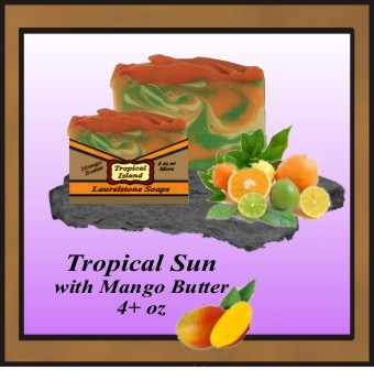 Citrus tropical island soap with mango butter
